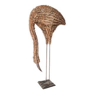 Bamboo and Metal Emu Sculpture