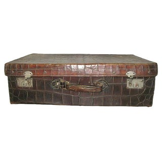 1920s Alligator Suitcase