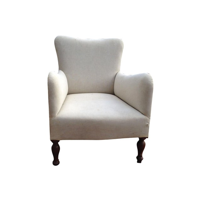 Image of Muslin Fireside Chairs- A Pair