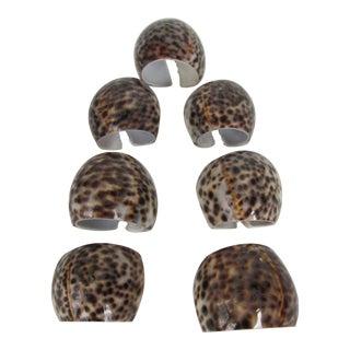 Natural Cheetah Shell Napkin Rings - Set of 7