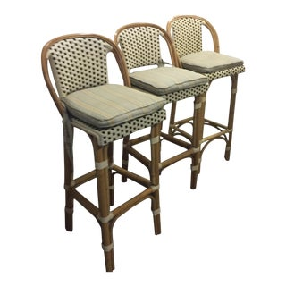 Brown & Cream Bistro Bar Stools - Set of 3