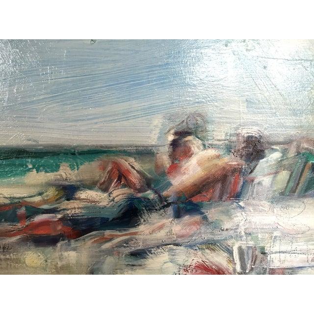 Teil Duncan Original Beach Scene Painting - Image 4 of 5