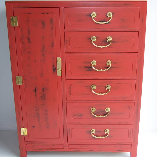 White Furniture Co. 1970 Red Dresser - Image 2 of 5