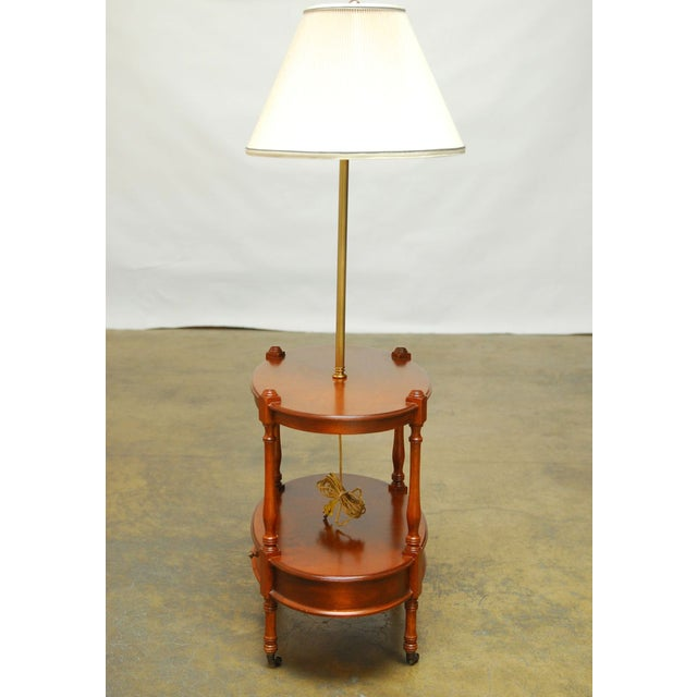 Frederick Cooper Two-Tier Side Table with Lamp - Image 5 of 7