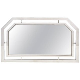 Vintage French Chrome Mirror