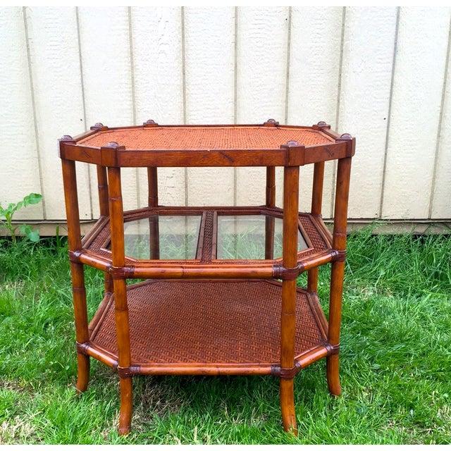 Image of Mid Century Widdicomb Style 3 Tier Octagon Table