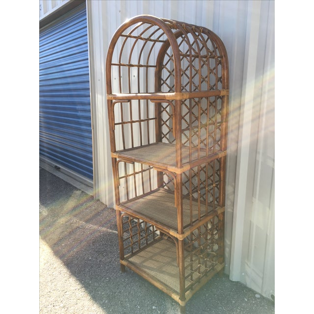 Rattan Amp Wicker Boho Chic Shelf Unit Chairish