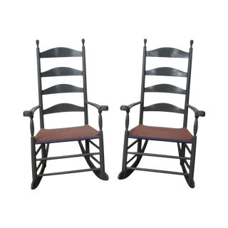 Pair of Painted Shaker Style Rocking Chairs