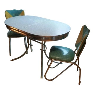 Vintage 1950's Mid-Century Dining Set - Set of 3