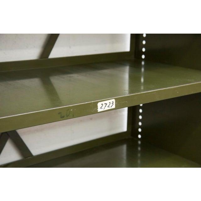 Industrial Military Sheet Metal Bookshelf - Image 8 of 10