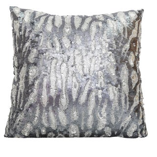 Gray Sequin Safari Pillow