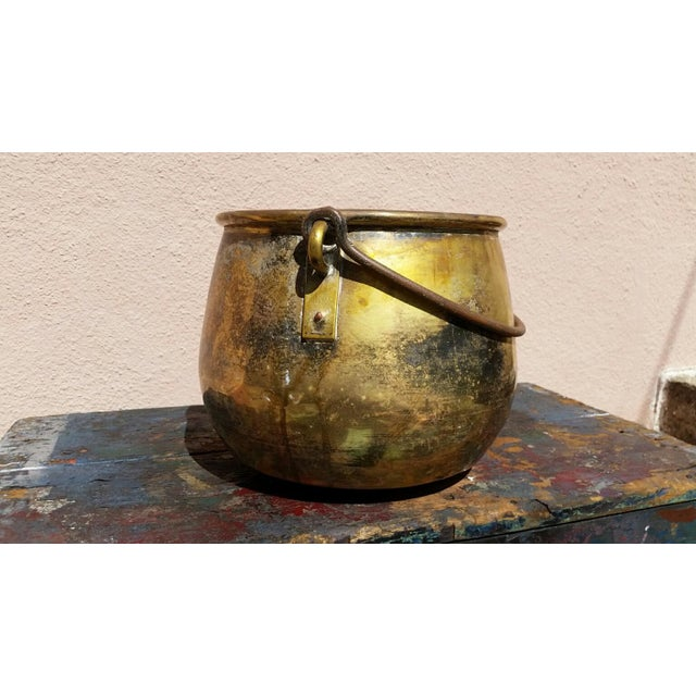 Large Brass Handled Pot - Image 4 of 6
