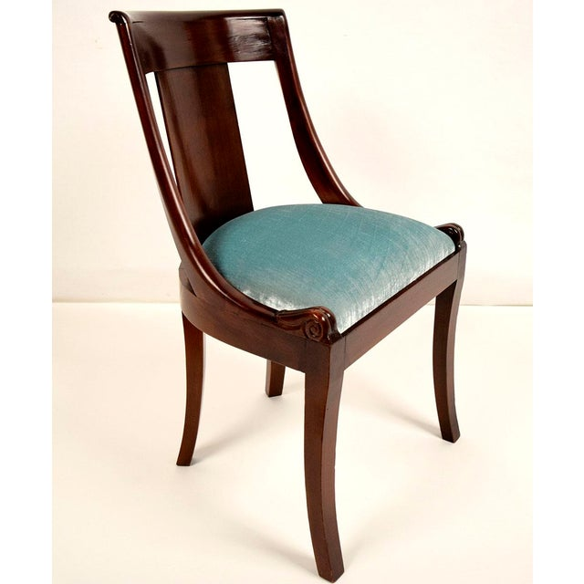 Dining Chair Sets Of 6: Antique French Empire-Style Mahogany Dining Chairs