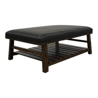 Jasper Upholstered Leather Bench
