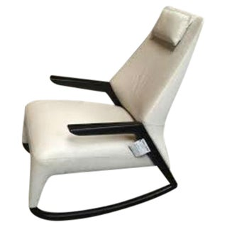 Contempo Italia White Leather Rocking Chair