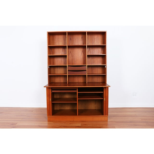 Danish Teak Secretary Tambour Desk by Peter Lovig - Image 3 of 5