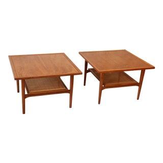 Kipp Stewart for Drexel Walnut Side Tables - a Pair