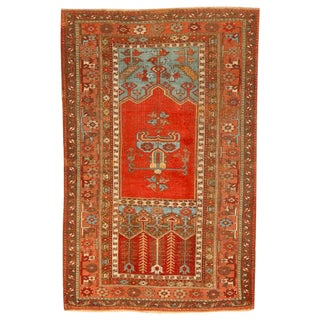 Antique Early 19th Century Turkish Ladik Rug