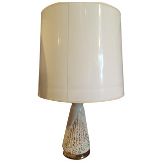Vintage Cream & Gold Lamp