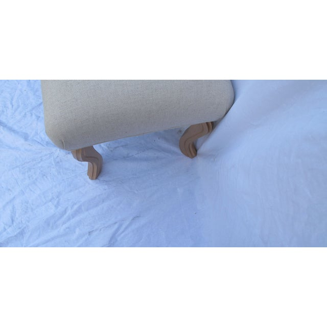 Vintage 1960s Water Fall Legs Gold Leaf Bench - Image 4 of 6