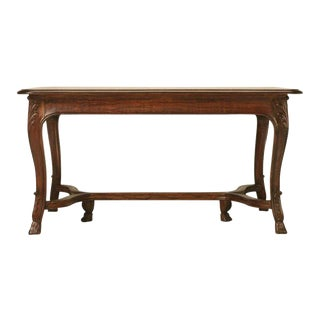 Circa 1930s French Dining Table With Pull-Out Leaves