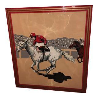 Old English Horse Race Bakelite Sign