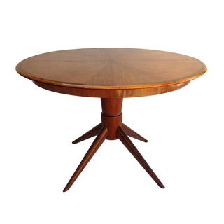 Mid-Century David Rosen Inlayed Wood Dining Table
