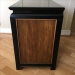 Image of Vintage Century Burled Wood Asian Nightstand