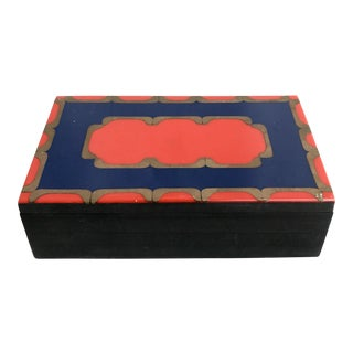 Vintage Argentine Wood Inlay Box