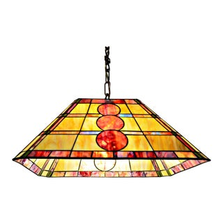 Stained Glass Rectangular Pending Lamp