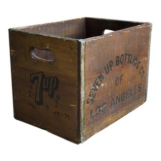 Vintage 1970s Wooden 7-Up Crate