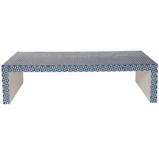 Op Art Bone Inlay Coffee Table