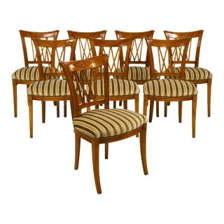 French Antique Directoire Style Chairs - Set of 8