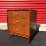 Image of Mid Century Modern Three Drawer Night Stand