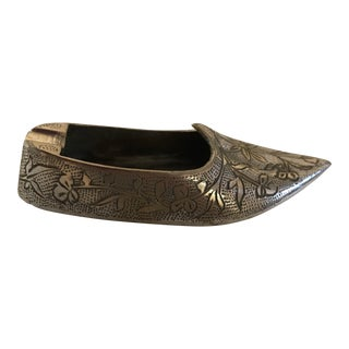 Silver Indian Shoe Ashtray