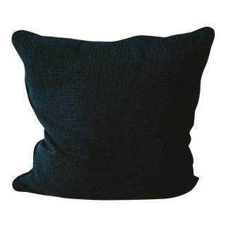 Black Textured Down Fill Pillow