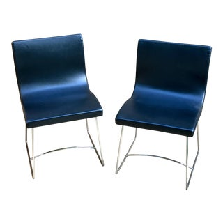 "French ""Sala"" Dining Chairs - a Pair"