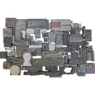 Letterpress Printing Blocks - 100 Pieces