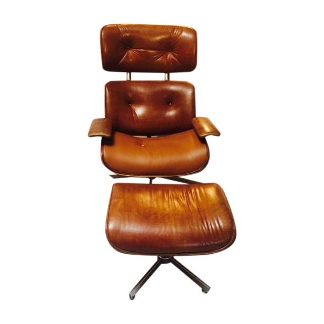 eames era plycraft lounge chair with ottoman chairish. Black Bedroom Furniture Sets. Home Design Ideas