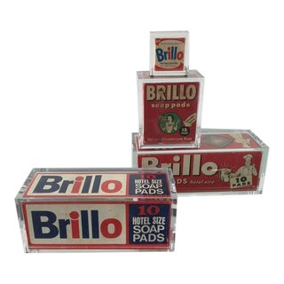 "Collection of ""Pop Art"" Acrylic Encased Vintage Brillo Boxes"