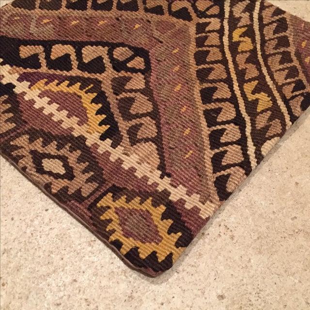 Vintage Brown Kilim Pillow Case - Image 3 of 5