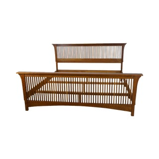 Stickley Solid Cherry King Size Spindle Bed