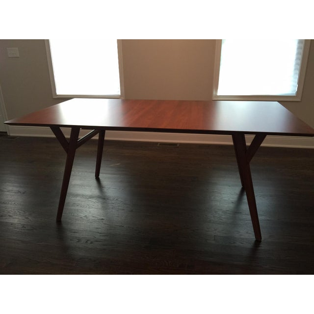 mid century expandable dining room table chairish. Black Bedroom Furniture Sets. Home Design Ideas