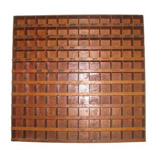 Cubbyhole Wooden Pine Cabinet