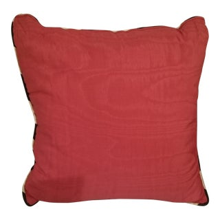 Pink Stripe Border Decorative Sofa Pillow