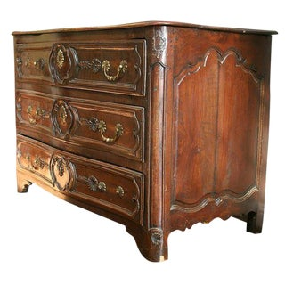 18th C Louis XV Walnut Commode