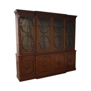 Feldenkreis Mahogany & Glass Breakfront Cabinet