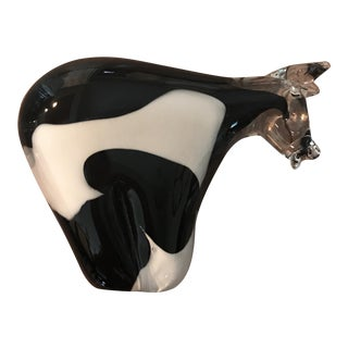 Vintage Murano Style Crystal Cow