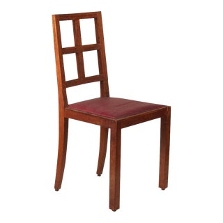 Francis Jourdain Set of Six Dining Chairs in Rosewood and Mahogany