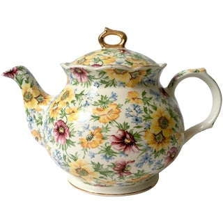 Vintage English Chintz Teapot